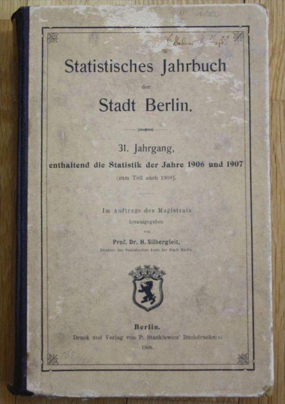 - Statistisches Jahrbuch der Stadt Berlin Statistik 1906 1907