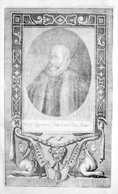 Hans Kobenzel Mühlstadt Ritter v. Deutchen Orden Kupferstich Portrait