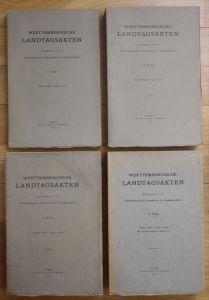 Württembergische Landtagsakten 4 Bände Württemberg Geschichte Landtag