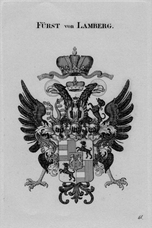 Lamberg Wappen Adel coat of arms heraldry Heraldik crest Kupferstich