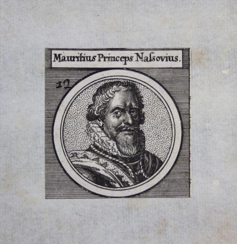 Moritz von Oranien Nassau Maurits von Oranje Graf Kupferstich Portrait