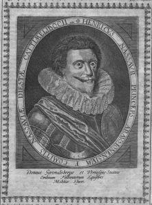 Friedrich Heinrich von Oranien Portrait Kupferstich engraving