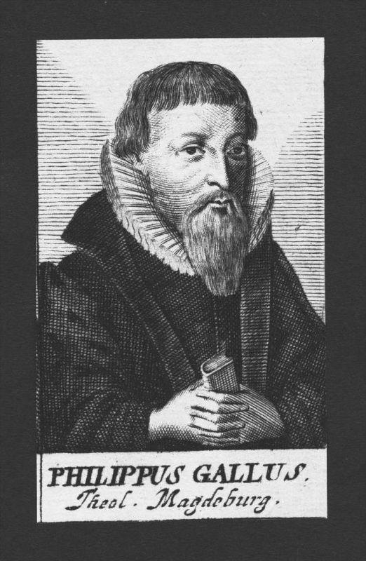 Philipp Gallus Hahn Theologe Halle Magdeburg Kupferstich Portrait