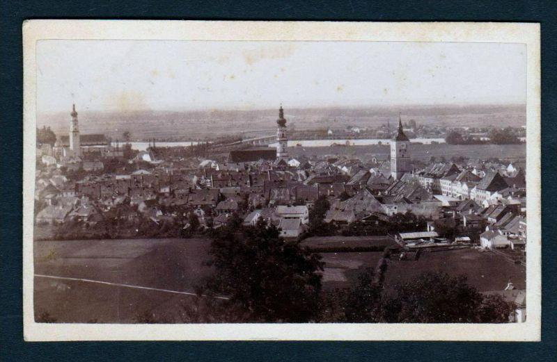 CDV Deggendorf Ansicht Gesamtansicht 1886 Foto photo