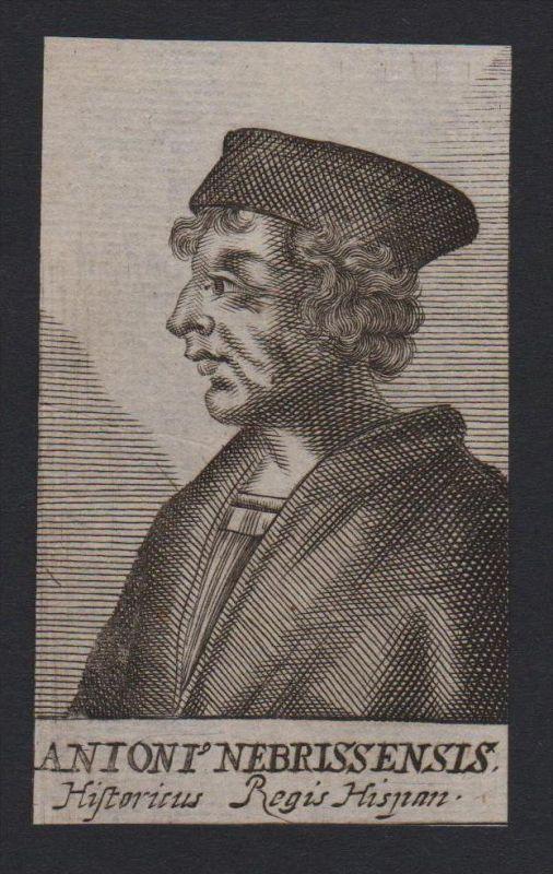 Antonius Nebressensis Historiker Spanien Spain Kupferstich Portrait