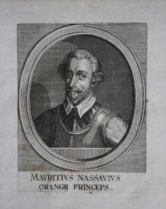 Moritz von Oranien Nassau Maurits Oranje Portrait Kupferstich