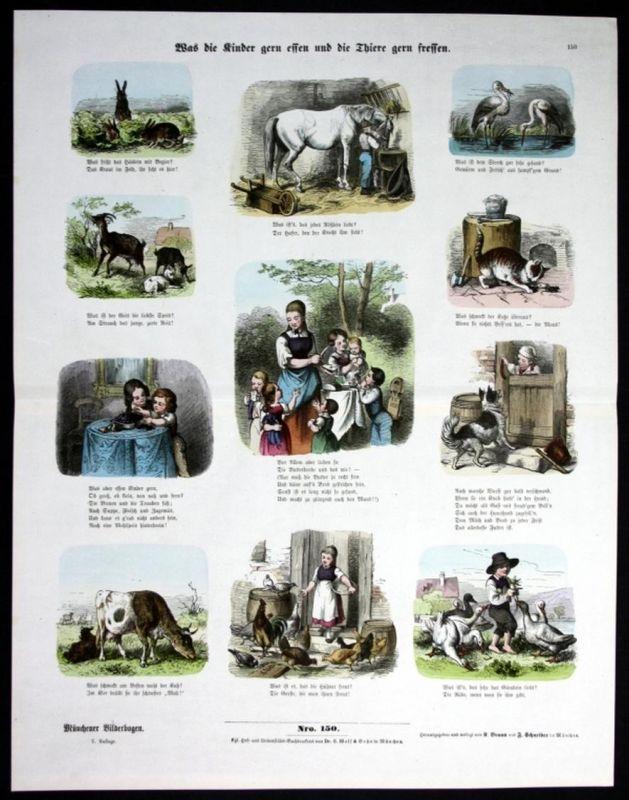 Kinder - Tiere - Essen - Münchener Bilderbogen