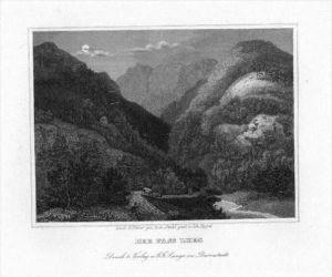 Pass Lueg Salzburg Original Stahlstich engraving gravure