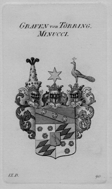 Törring Minucci Wappen coat of arms heraldry Heraldik crest Kupferstich