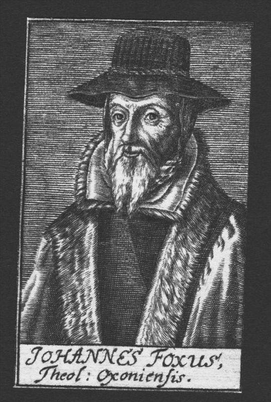 Johannes Foxus Fox Theologe Oxford Great Britain Kupferstich Portrait