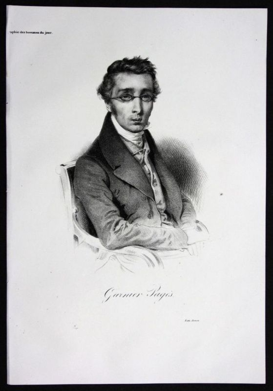 Etienne Garnier Garnier-Pages Politiker politician Lithographie Portrait