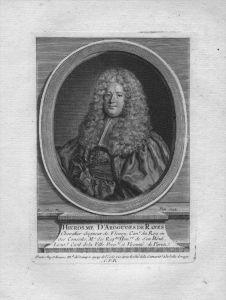 Hierosme Argouges de Ranes Rat des Königs gravure Kuperstich Portrait