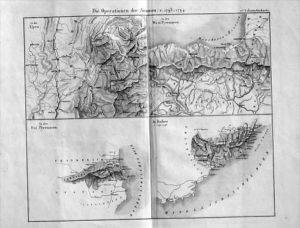 Italia Pyrenäen Espana Napoleon Stahlstich acquaforte Italy veduta