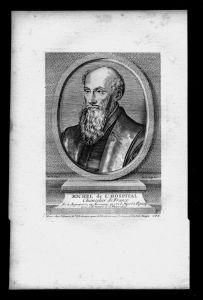 Michel de Hopital Staatsmann Jurist Frankreich Kupferstich Portrait