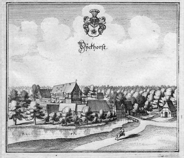 Dieckhorst Müden Gifhorn Kupferstich Merian
