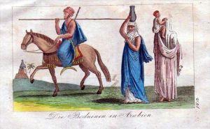 Beduinen Arabien Arabia Tracht Trachten costumes Original Kupferstich