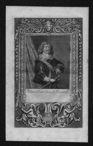 Johann Franz Baron von Fernemond engraving Kupferstich Portrait