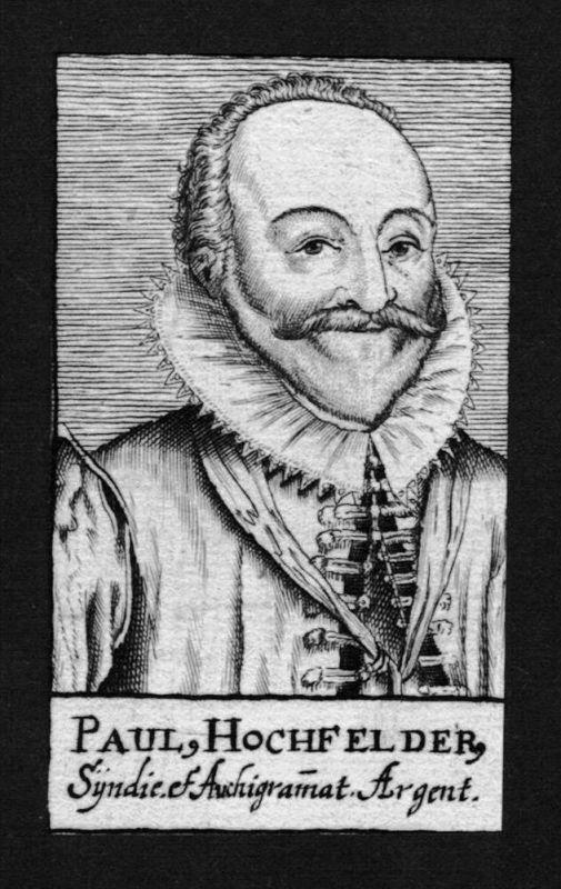 Paul Hochfelder Jurist lawyer Bürgermeister Straßburg Kupferstich Portrait