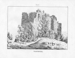 Wartburg Burg Ruine Kanton Basel Basle Bale Schweiz Suisse Lithographie