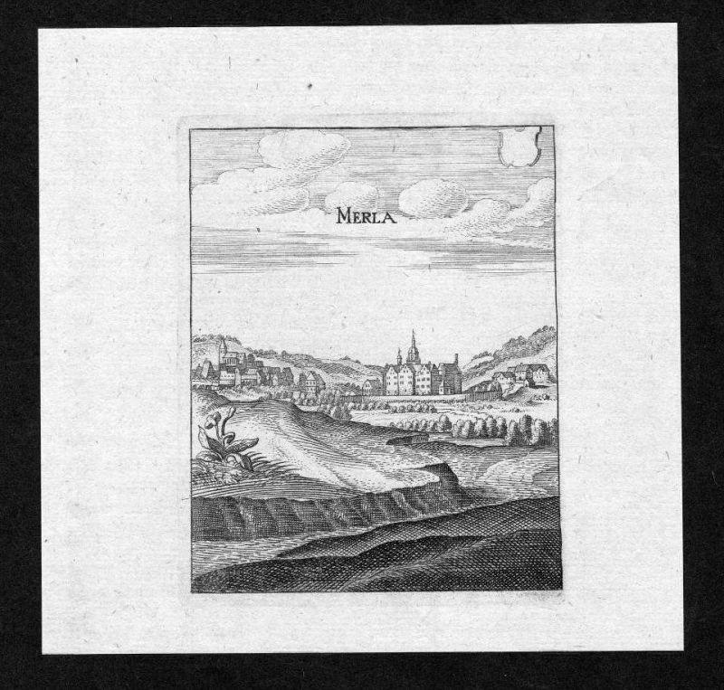 Merlau Mücke Vogelsbergkreis gravure Merian Kupferstich engraving