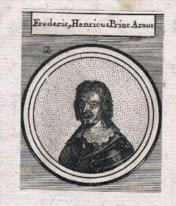 Friedrich Heinrich von Oranien Satthalter Nederland Kupferstich Portrait