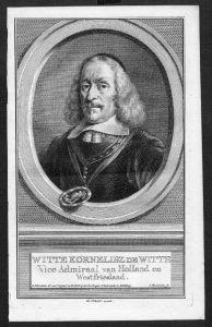 Witte Corneliszoon de With Admiral Original Kupferstich Portrait