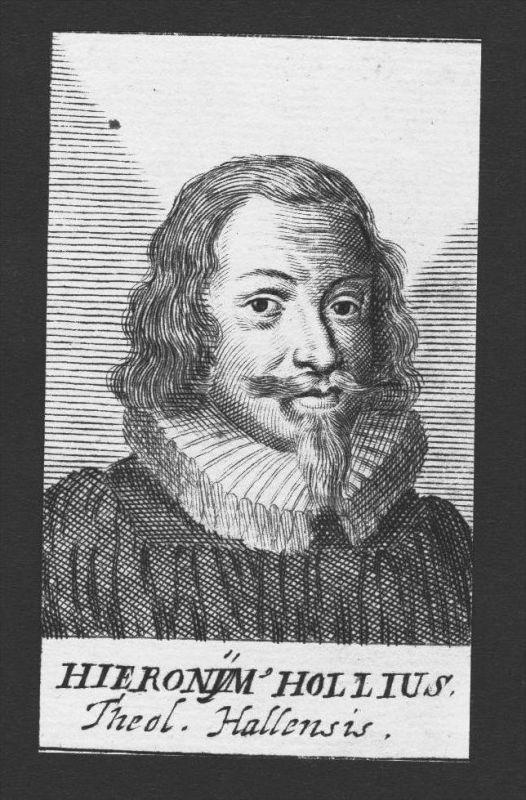 Hieronymus Holl Theologe Nürnberg Jena Halle Kupferstich Portrait