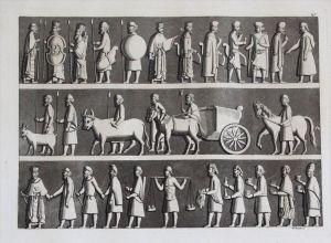 Persepolis Relief Persia Persien Aquatinta aquatint antique print