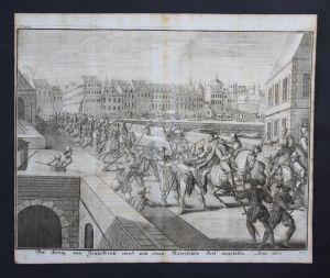Paris Heinrich IV König von Frankreich Attentat 1605 Kupferstich engraving