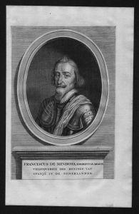 Francisco de Mendoza Aragon Admiral Portrait Kupferstich grabado