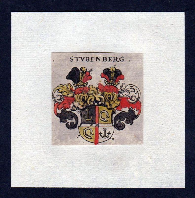 17. Jh Stubenberg Wappen Adel coat of arms heraldry Heraldik Kupferstich