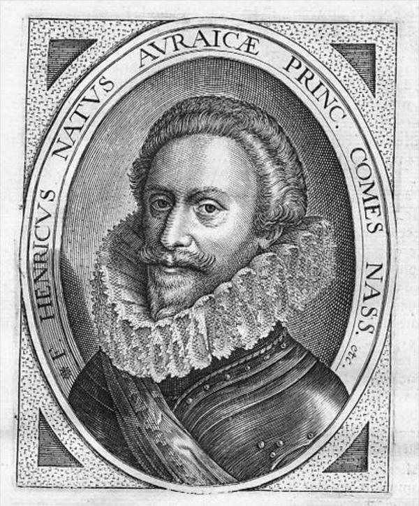 Friedrich Heinrich v Oranien Holland Portrait engraving gravure