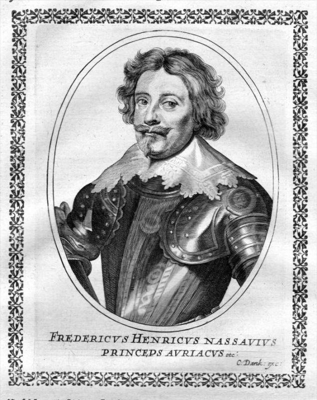 Friedrich Heinrich von Oranien - Stadthalter Niederlande (1584 - 1647) Kupferstich Portrait
