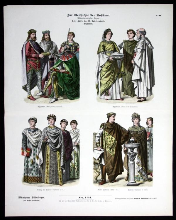 Kostüme - Byzanz - Türkei - Münchener Bilderbogen