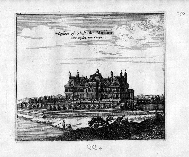 Chateau de Maisons Paris Frankreich France gravure estampe Kupferstich