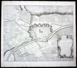 Ulm - Plan of the Imperial Town and Fortress of Ulm at the time of itäs being attacked by .. General Baron Thuugen