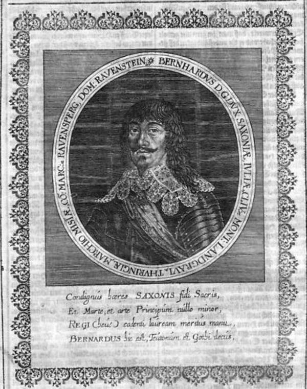 Bernhard Herzog v. Sachsen-Weimar Portrait Merian