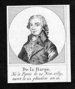 Jean-Francois de La Harpe Kritiker Dichter France Kupferstich Portrait