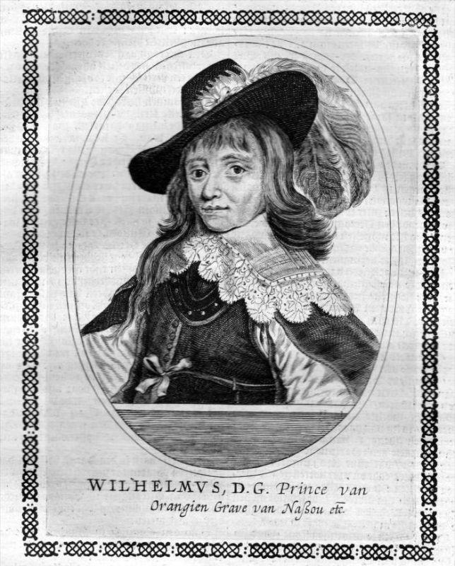 Wilhelm I von Oranien - Wilhelm von Nassau-Dillenburg (1533 - 1584) Kupferstich Portrait