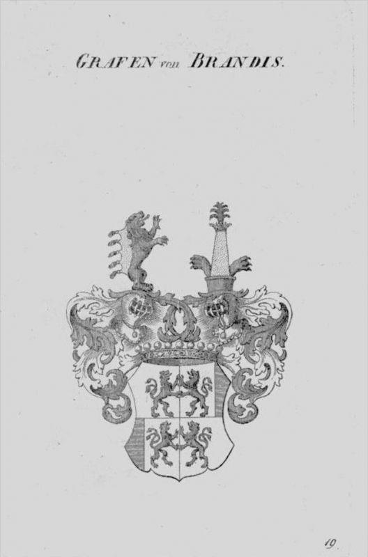 Brandis Wappen Adel coat of arms heraldry Heraldik crest Kupferstich