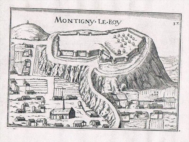 Montigny-le-Roi Val-de-Meuse Haute-Marne view gravure Kupferstich Tassin