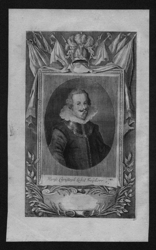 Hans Christoph Freiherr von Löbl gravure engraving Kupferstich Portrait