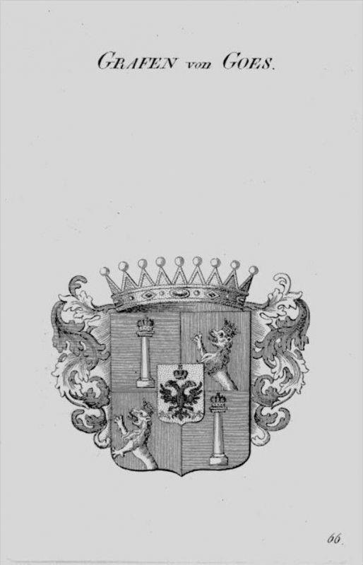 Goes Wappen Adel coat of arms heraldry Heraldik crest Kupferstich