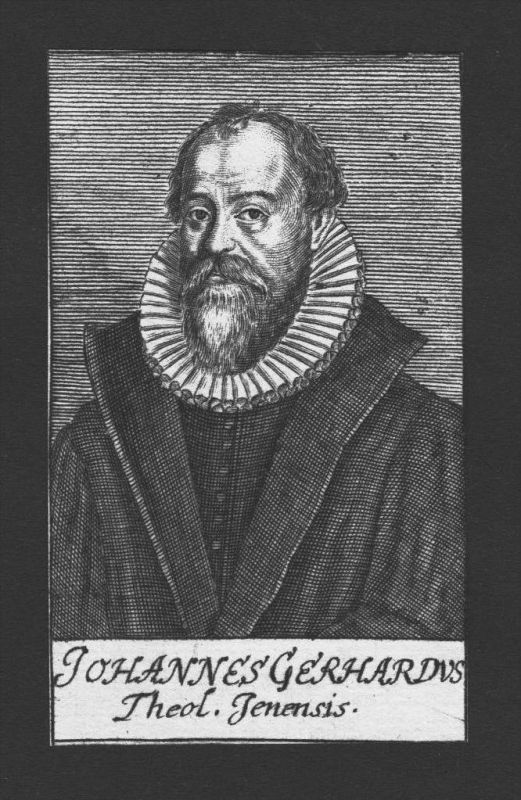 Johannes Gerhard Theologe Professor Wittenberg Jena Kupferstich Portrait