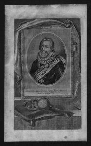 Heinrich IV von Navarra König von Frankreich Kupferstich Portrait