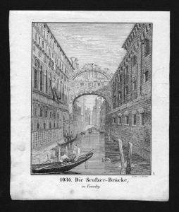 Venezia Venedig Venice Ponte dei Sospiri Lithographie Lithograph