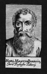 Marcus Mantua Bonavitus Jurist lawyer Italien Kupferstich Portrait