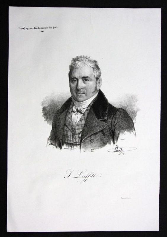 Jacques Laffitte Politiker politician Frankreich Lithographie Portrait