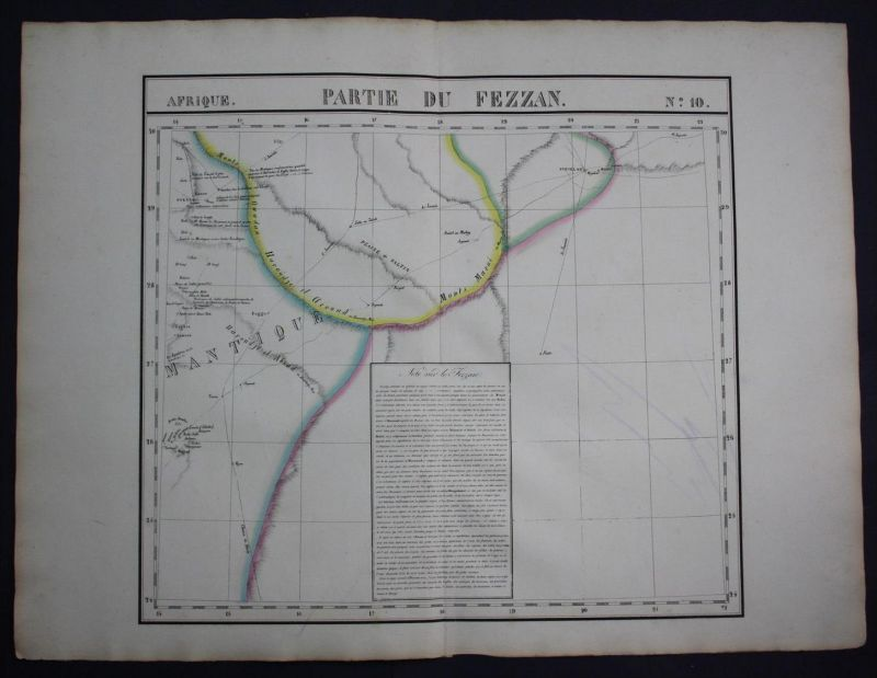 Fezzan Libya desert North Libyen Africa Afrika map Karte Vandermaelen