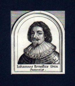 Johann Ernst v. Sachsen Coburg Portrait Merian